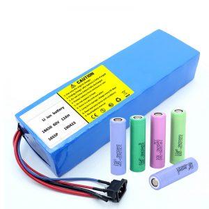 锂电池18650 60V 12AH锂离子可充电踏板车电池组