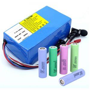 锂电池18650 48V 12AH 48V 500W电动自行车电池带BMS