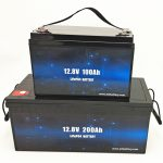 深度循环LiFePO4太阳能电池12V 100Ah / 200Ah高尔夫球车锂离子电池