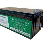 2.56KWh 2000循环12v电池寿命po4 200ah电动汽车锂电池组