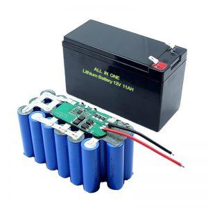 18650 3S5P 12V锂电池11Ah可充电锂电池组
