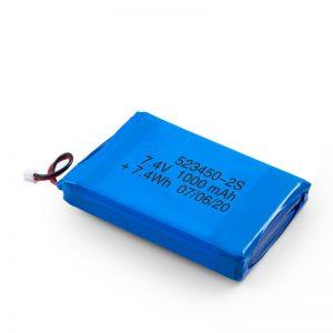 LiPO可充电电池523450 3.7V 1000mAH / 7.4V 1000mAH / 3.7V 2000mAH