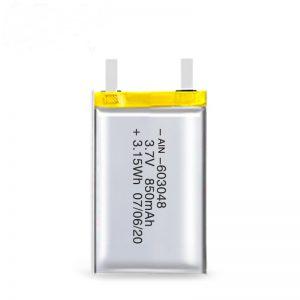 LiPO可充电电池603048 3.7V 850mAh / 3.7V 1700mAH / 7.4V 850mAH