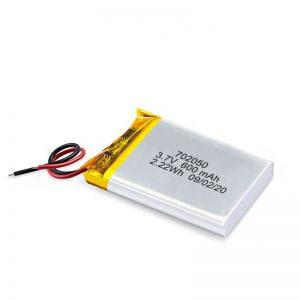 中国批发3.7V 600Mah 650Mah迷你锂聚合物锂电池可充电电池组玩具车