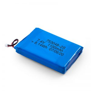 LiPO充电电池753048 3.7V 1100mAh / 7.4V 1100mAH / 3.7V 2200mAH